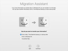 Use Migration Assistant to copy all of your documents, apps, user accounts, and settings to a new Mac from another computer.
