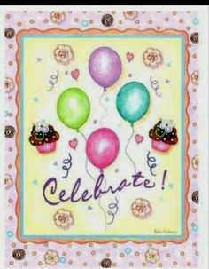 Birthday card designed by artist Barbara Ann Kenney included in her Large Leanin'Tree card assortment.