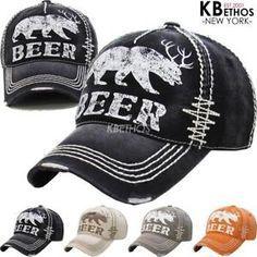 b8b0d28844a8a  13.99 Vintage Distressed Hat Baseball Cap - BEER - KBETHOS Baseball Hats