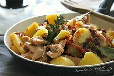 Pollo con patate e pancetta in padella, secondo piatto facile. Secondo piatto semplice ma tanto gustoso e semplice da preparare