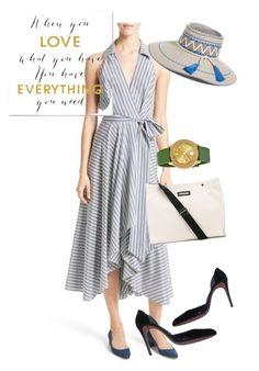"""dress"" by masayuki4499 ❤ liked on Polyvore featuring Milly, Grandin Road, Miu Miu, Marni, Movado and Eric Javits"