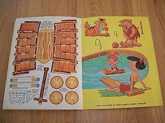 Vintage-1966-Flintstones-Pebbles-Bamm-Bamm-Whitman-Punchout-Paper-Dolls