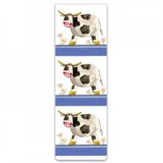 All our magnetic bookmarks measure x x x designed to clasp the page rather than mark it they make a perefct gift with a nice twist. Magnetic Bookmarks, Magnets, Cow, Dairy, Kids Rugs, Design, Kid Friendly Rugs, Cattle
