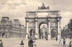 L'Arc de Triomphe de la Victoire et la place du Carrousel, un beau jour vers 1900. Paris 1900, Old Paris, Vintage Paris, Paris France, Carrousel, Tour Eiffel, Palais Du Luxembourg, Louvre, Old Photography
