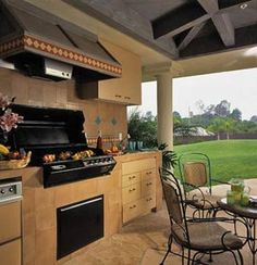 Outdoor Kitchen with Ventilation Hood