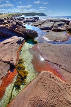 Rock pools at the hidden beach, Stokes Bay, Kangaroo Island, Sth Australia.