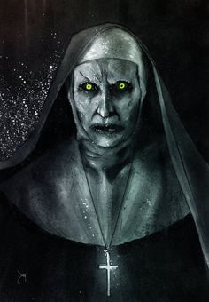 "Horror Movie Art : ""Valak""  The Conjuring 2"