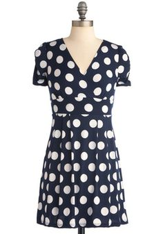 I own this dress-one of my favs  Hits the Spotlight Dress. You're always the star of life's fashion show - but in this little navy number, you're really in the spotlight with your unique style! #blue #modcloth