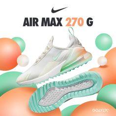 New Colourway Dropped🍭 Nike #AirMax 270G Golf Shoe in Sail/Light Dew/Crimson Tint/Photon Dust.👟 Available at #eGolfMegastore!🛍️ ___ #nikekicks #NikeAirMax270G #NikeGolf #nikegolfclub #golfshoes #eGolfMegastore #NikeMiddleEast Nike Golf Clubs, Nike Kicks, Air Max 270, High Level, Golf Shoes, Cleats, Nike Air Max, Sailing, Silhouette