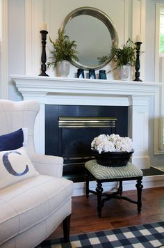 Fireplace Design. Simple and easy #fireplace design.