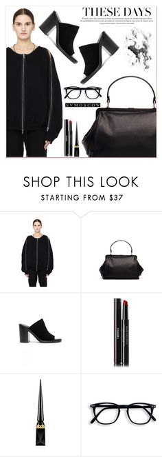 """""""SvMoscow"""" by lucky-1990 ❤ liked on Polyvore featuring Ann Demeulemeester, Chanel and Christian Louboutin"""