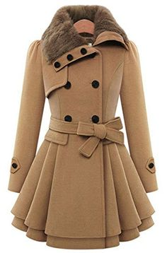 ANDI ROSE Women Woolen Thick Warm Winter Long Coat Hood Overcoat Jacket Outwear -- Want additional info? Click on the image. (This is an affiliate link) #DownParkasCoatsJacketsVests