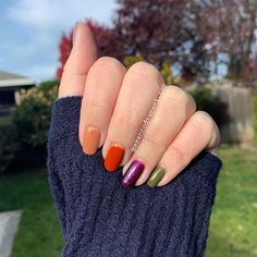 GelMoment DIY, one-step, non-toxic gel polish   Echoes of Paris, Autumn in Montreal, Pumpkin Splash, Queen of the Galaxy, Feeling Ferny