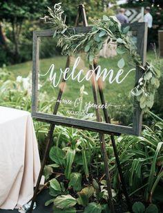 Wedding Welcome Sign - Wedding Signs - Acrylic Wedding Sign - Lucite Wedding Sign - Wedding Signs -