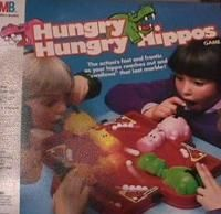 Loved this game! I always had to be the pink one, and my little sister had to be the green one. I don't know why--I guess we just thought they were the hungriest hippos, LOL.