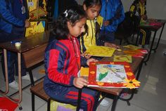 """Jesus Sacred Heart School organized the """"Yellow Embellishments"""" competition where students highly attracted our attention by creating impressive art works using yellow coloured sheets on any theme of their choice."""