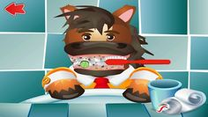 BRUSH YOUR TEETH WITH FUNNY ANIMALS Description: This fun app is designed for children (ages 2 and up) with the aim to assist parents in teaching their children to make brushing a habit. The free version of the app allows children to identify the food they have eaten that day and clean the teeth of a cartoon horse. Then, it is their turn to brush with a timer followed by a photo to show how clean their teeth are.