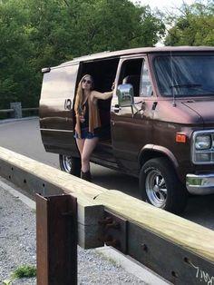 Image may contain: 1 person, sky and outdoor Dodge Van, Chevy Van, 2020 Ford Explorer, Cool Vans, Vans Girls, Custom Vans, Kustom, Van Life, Volkswagen