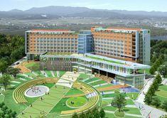 Healthcare Architecture, University Architecture, School Architecture, Architecture Plan, School Building Design, Home Building Design, School Design, House Gate Design, Hospital Design