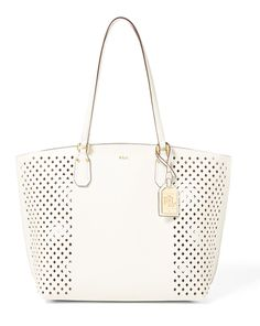 08c7faaf0cca RALPH LAUREN Diamond-Perforated Tanner Tote.  ralphlauren  bags  leather   hand bags  tote