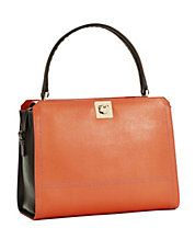 Riviera Leather Top Handle Satchel