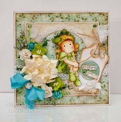 Cute Green Magnolia Card