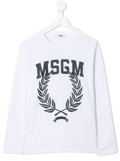 Msgm Kids long sleeved T-shirt - White Fashion Milano, Msgm Kids, Print Logo, Kids Fashion, Fashion Design, Graphic Sweatshirt, T Shirt, Baby Design, Shirt Designs