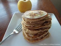 Whole Grain Apple-Cinnamon Pancakes on Mary Ellen's Cooking Creations