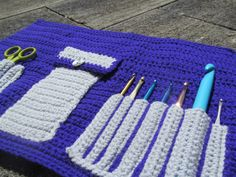 Crochet Hook Case in Amethyst  Spend time on your by Chrissstuff, $10.00