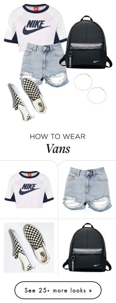 """""""summer time"""" by leybrown on Polyvore featuring NIKE, Topshop, Vans and Design Lab"""