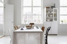 White Sheer Tablecloth | Remodelista