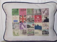 shabby chic British Icon pillow sham by kreativbyerika, $30.00
