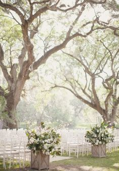 outdoor treelined wedding | repin via: the perfect palette