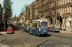 Lijn 10 in de Plantage Kerklaan de 942 en 990 op 28 april 1970. Prentbriefkaart uit de collectie van Olaf Horn
