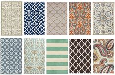 Great round up of inexpensive rugs