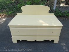 Repurposed/Upcycled Chest of Drawers (small bench)