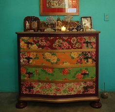 Dishfunctional Designs: Upcycled Dressers: Painted, Wallpapered & Decoupaged…
