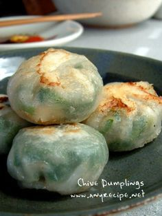 CHINESE Chive and Shrimp Dumplings -- these are incredible -- one of my absolute favorite dim sum snacks!