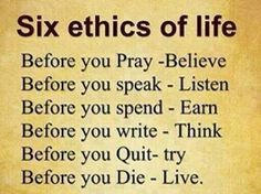 """ethics how should i live my Ethics and morals are often  ethics in the classroom: what you need to  """"the questions we're facing now are not how can we live well within."""