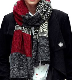 Men winter New Male Winter Multicolor Patchwork Vintage Men Knitted Scarf Winter Mens Scarves – Islamic Clothes Photos Boho Fashion, Winter Fashion, Mens Fashion, Fashion Scarves, Style Fashion, Luxury Man, Mens Knitted Scarf, Knitted Scarves, Herren Winter