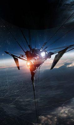 cool looking space craft or satellite (236×399) #future #scifi #sci-fi