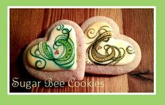 Painted cookies with a smokey swirl effect.  (Baked and painted by: Krista Cook from Sugar Bee Cookies)
