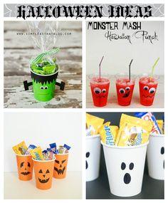 Decoración Halloween: vasos