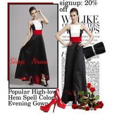 Popular High-low Hem Spell Color Evening Gown