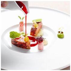 Scottish Salmon with Yuzu, Daikon, Sesame, Vinaigrette of Red Beetroot by super talent @janhartwig_atelier of 2 Michelin starred Atelier at @bayerischerhof_munich #food #foodie #foodart #foodporn #fourmagazine