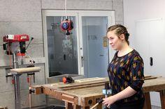 Anna Rose, die an der NDU Design, Handwerk und materielle Kultur studiert, im Interview mit goTV.  #newdesignuniversity #ndu