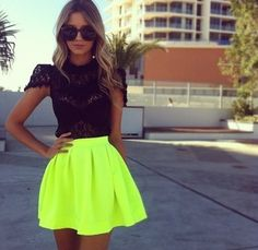 Neon Crush Skirt from P.S. I Love You More Boutique on Storenvy