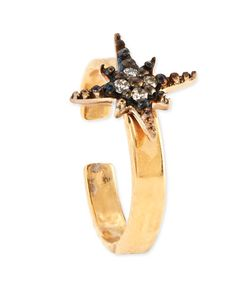 Y2BH9 Sydney Evan 2mm 14k Gold Ear Cuff with Diamond Starburst