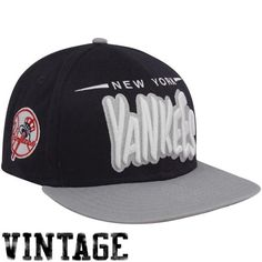 10a64fef1e6 New Era New York Yankees Navy Blue-Gray Funky Doperastic 9FIFTY Snapback Hat  Yankees Hat