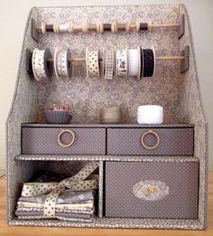 28 Ideas Sewing Storage Diy Cardboard Boxes For 2019 Cardboard Storage, Cardboard Box Crafts, Paper Storage, Fabric Storage, Sewing Room Furniture, Cardboard Furniture, Art Storage, Craft Room Storage, Storage Ideas